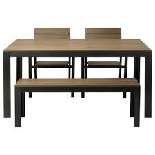 Dining Room Table Chairs Ikea by Simple Cheap Untreated Mahogany Dining Table With Bench Seats