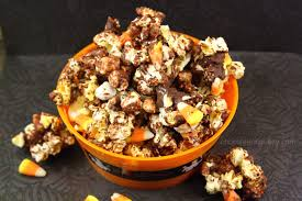 Halloween Candy Dish by Halloween Candy Corn Chocolate Popcorn