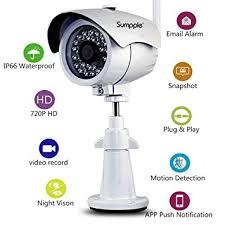 ip filaire exterieur sumpple s631 éra ip de surveillance wifi filaire 720p extérieur