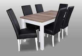 moderne esszimmer leder tisch stuhl garnitur komplett set 7 teiliges set stühle