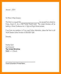 13 formal excuse letter