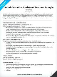 Administrative Assistant Resume Example Sample Profile