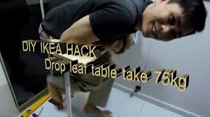 Fold Down Kitchen Table Ikea by Ikea Hack 20 Diy Drop Leaf Table Youtube