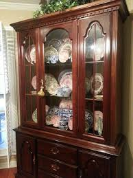 Cherry Dining Table Chairs China Cabinet