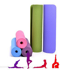 Yoga Mat Eco Friendly TPE Anti Slip Exercise With Carry Bag