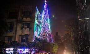 65 Ft Christmas Tree by 65 Ft Tall India U0027s Tallest Christmas Tree Becoming Attraction Of