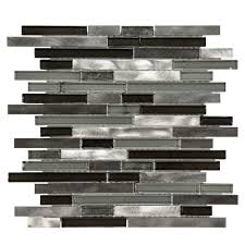 Jeffrey Court Mosaic Tile by Jeffrey Court Modern Day 12 1 4 In X 13 In X 9 Mm Metal Glass