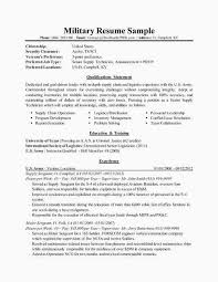 Free Resume For Military New To Civilian Builder Best Of 0d