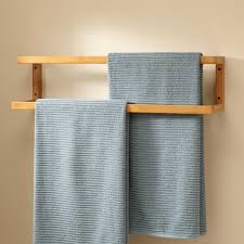 Bathroom Towel Bar Height by Salvatore Bamboo Mounted Towel Rack Bathroom