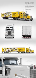 100 Hand Picked Trucks Kenworth Refrigerator Truck HQ Mockup Pack In Picked Sets Of