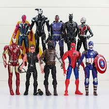 10Pcs Lot Captain America Civil War Avengers Figures Iron Man Ant Hawkeye Spiderman