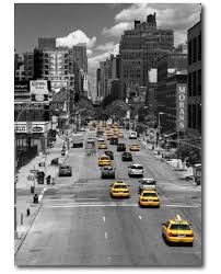 tableau taxis jaunes new york tableau photo noir et blanc defacto