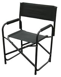 Impact Canopy Standard Folding Director's Chair, Heavy Duty, Set Of 2  Aluminum Frame Chairs, 35 Inch, Black