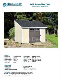 8 x 10 deluxe shed plans lean to d0810l material list