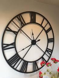 große schwarze wanduhr schwarze wanduhr black wall clock