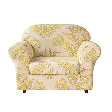 Subrtex 2-Piece Flower Stretch Sofa Slipcover Sure Fit Ballad Bouquet Wing Chair Slipcover Ding Room Armchair Slipcovers Kitchen Interiors Subrtex Printed Leaf Stretchable Ding Room Yellow 2pcs Ektorp Tullsta Chair Cover Removable Seat Graffiti Pattern Stretch Cover 6pcs Spandex High Back Home Elastic Protector Red Black Gray Blue Gold Coffee Fortune Fabric Washable Slipcovers Set Of 4 Bright Eaging Accent And Ottoman Recling Queen Anne Wingback History Covers Best Stretchy Living Club For Shaped Fniture