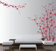Cherry Blossom Curtain Panels by Cherry Blossom Tree In Emma U0027s Room Hand Painted Wall Murals