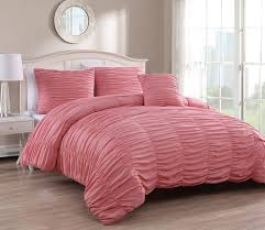 Coral Colored Bedding by 4 Piece Nikki Charcoal Comforter Set