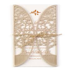 Brown Wedding Invitations In The Grove Laser Cut Invitation