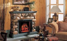Fascinating Images Of Living Room Decoration Using Various Stone Fireplace Stunning Image Rustic