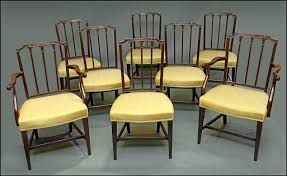 Dining Chairs 4 Hepplewhite Style Mahogany Yellow Floral Upholstered Ding Chairs Style Ding Table And Chairs Pair George Iii Mahogany Armchairs Antique Set Of 8 English Georgian 12 19th Century Elegant Mellow Edwardian Design Antiques World 79 Off Wood Hogan Side Chair Eight Late 18th Of