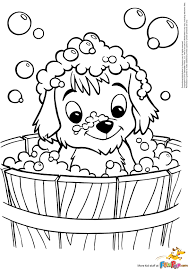 Cute Puppy Coloring Pages With Brilliant Downloads Online