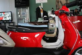 Red Vespa LX 150 With A Nathaniel Briggs Seat Look At How Much Lower It