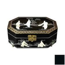 Oriental Furniture Violetta Black Tabletop Jewelry Armoire
