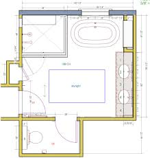 Small Master Bathroom Layout by Master Bathroom Plans With Walk In Shower Along Floor Plan Design