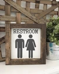 ORIGINAL Restroom Sign Bathroom Painted Farmhouse Style Decor Type Font