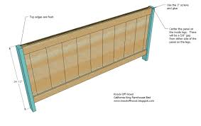 Amazonca King Headboard by Ana White Farmhouse Bed Calif King Diy Projects