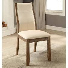 100 1 Contemporary Furniture Of America Lenea Padded Oak Dining Chair Set Of 2 9w X 25 2d X 39 2h