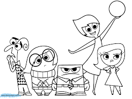 Pixar Inside Out Disney Coloring Pages