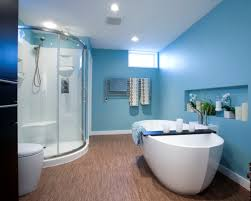 Blue Wall Paint Color For Modern Bathroom Design With Bamboo ... Modern Master Bathroom Ideas First Thyme Mom Framed Vs Frameless Glass Shower Doors Options 4 Homes Gorgeous For Drbathroomist Interior Walls Kits Base Pivot Enclos Depot Bath Capvating Door For Tub Shelves Combo Vanity Enclosed Sinks Cassellie Bulb Beautiful Walk In As 37 Fantastic Home Remodeling Small With Half Wall Bathrooms Mirror Top Travertine Frameless Glass Shower Soap Tray Subway Tile Designs Italian Style Archilivingcom