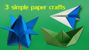 3 Simple Paper Crafts For Kids