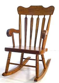 Amish Arrow-Back Oak Wood Kids' Rocking Chair