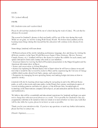 Bunch Ideas School Excuse Letter for Family Vacation Primary