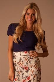 navy lace modest top affordable boutique clothes trendy modest