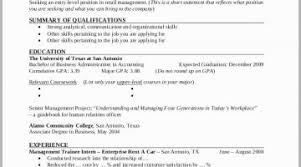 Resume Profile Examples For College Students Objective A Student Objectives
