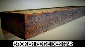 reclaimed wood floating shelf youtube