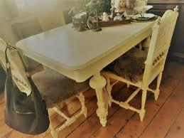 shabby chic esstisch vintage stuhl stühle gründerzeit antik