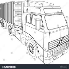 Container Truck Trailer Line Drawing Isolated Stock Vector (Royalty ... Cars And Trucks Coloring Pages Unique Truck Drawing For Kids At Fire How To Draw A Youtube Draw Really Easy Tutorial For Getdrawingscom Free Personal Use A Monster 83368 Pickup Drawings American Classic Car Printable Colouring 2000 Step By Learn 5 Log Drawing Transport Truck Free Download On Ayoqqorg Royalty Stock Illustration Of Sketch Vector Art More Images Automobile