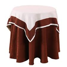 Popular White Wedding Table Overlay Cloth Red Underlay Tablecloth