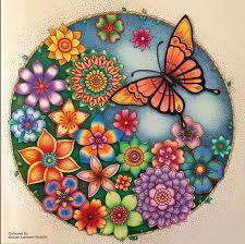Johanna Basford Secret Gardens Coloring Books Crayon Art Vintage Pages Book
