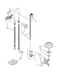 Tub Drain Assembly Diagram by Kenmore Elite Dishwasher Parts Model 66512773k310 Sears