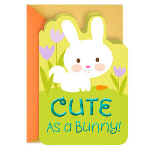 Cute as A Bunny in Tulips Easter Card