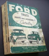 1960 Ford Truck Parts And Accessories Catalog Book Pickup Heavy Duty ...