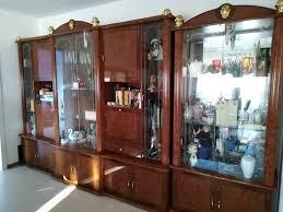 hochglanz wohnzimmer 6 möbel mahagoni vitrine sideboard schrank