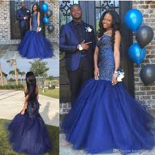 gorgeous navy blue backless 2017 prom dresses sweetheart