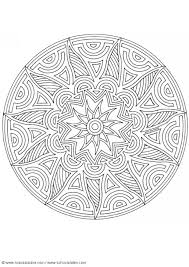 Interesting Circular And Flower Shape Mandala With Lots Of Curving Lines Shapes Cool Design